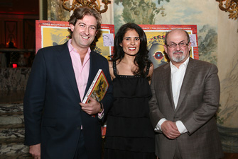 Mortimer Singer, Tina Bhojwani and Salman Rushdie