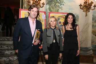 Mortimer Singer, Tory Burch and Tina Bhojwani